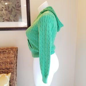 Ralph Lauren Sweaters - Ralph Lauren Sport Zip Hooded Cable Knit Sweater